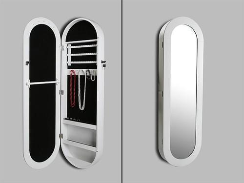 Foto espejo joyero en blanco foto 314006 for Espejo ovalado blanco