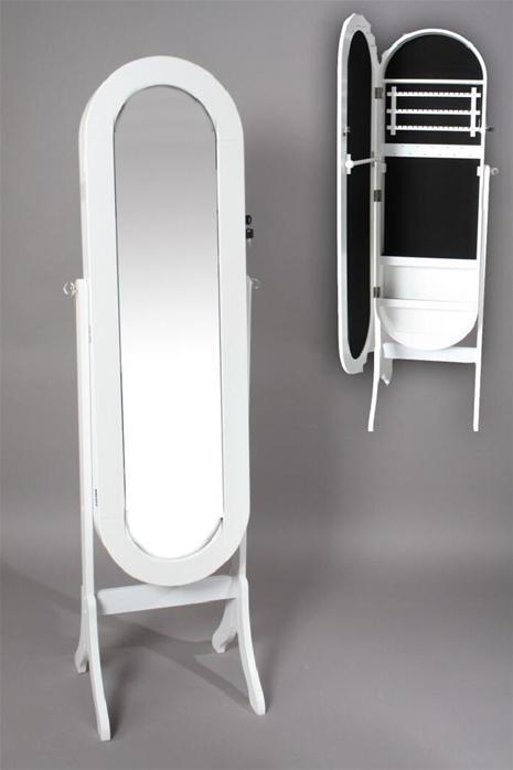 Foto espejo vestidor joyero madera ovalado bl foto 314013 for Espejo ovalado madera