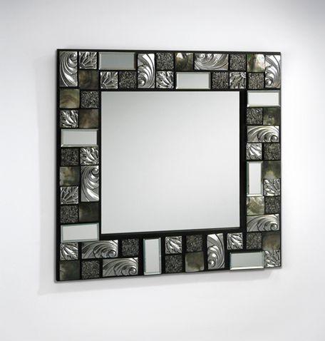 Foto espejos modernos modelo mosaic plata foto 875601 - Espejos de resina ...