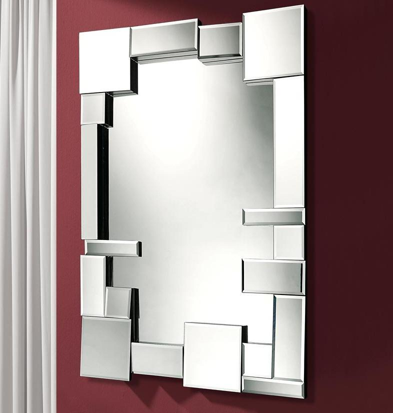 Foto espejos modernos modelo mosaic plata foto 875601 for Espejos modernos en madera