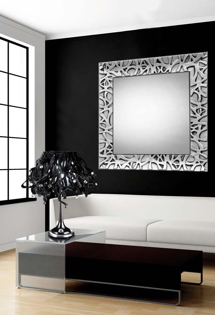 Foto espejos modernos de madera colecci n algeciras for Decoracion para espejos