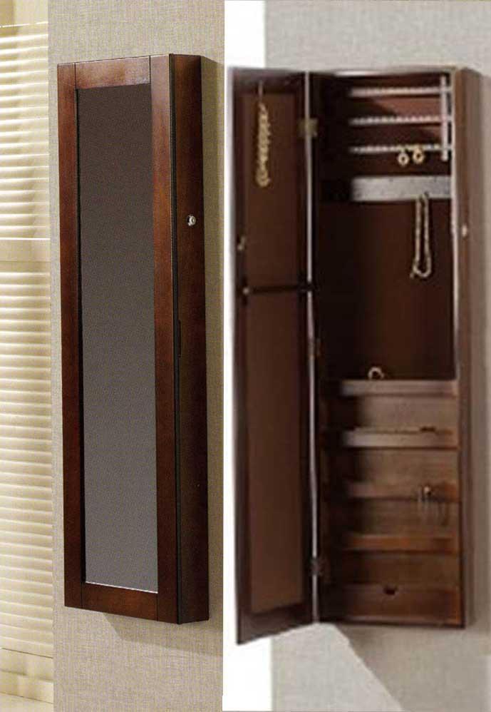 Foto espejos vestidores de pared con joyero colecci n for Espejos madera para decorar