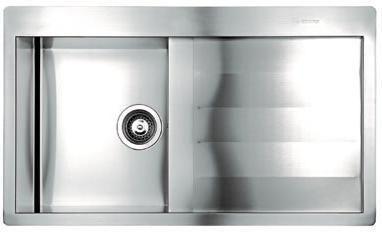 Foto fregadero bajo marmol nayes 334012 inox cubeta y escurridor derecha r foto 604501 - Fregadero marmol ...