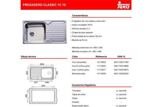 Foto fregadero teka classic 1c 1e foto 346521 - Fregadero teka stylo ...