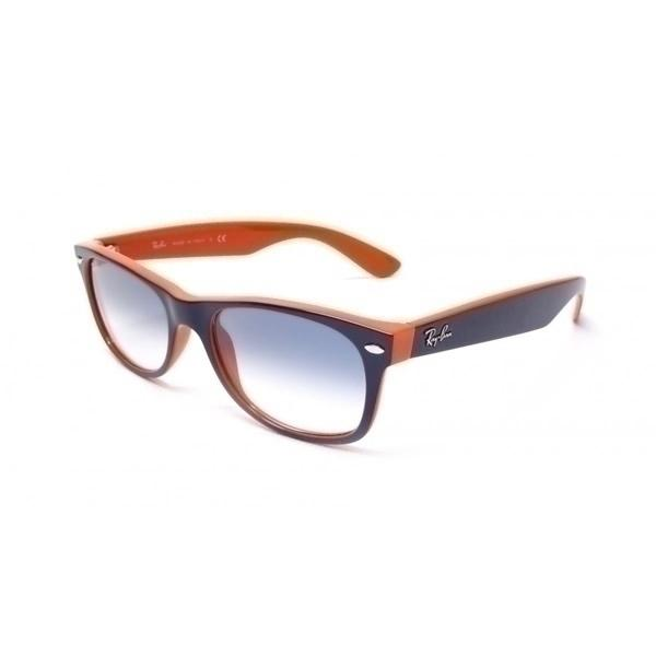 Foto Gafas de sol Rayban RB2132 New Wayfarer 789/3F Frame blue orange Lens gradient blue 52 mm