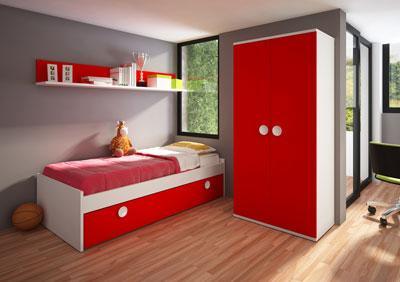 Foto habitacion juvenil en arce blanco o cerezo modelo for Habitaciones de nina baratas