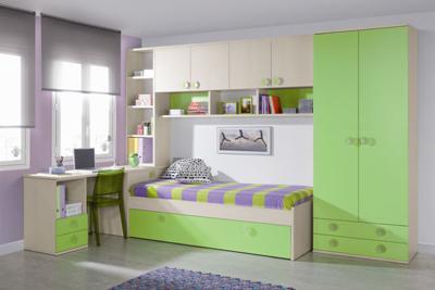 Foto habitacion puente juvenil en arce blanco o cerezo for Habitacion puente juvenil