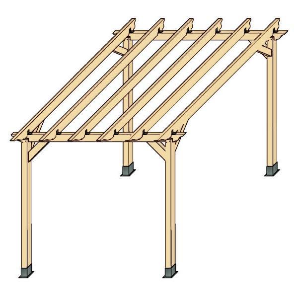 Foto kit p rgola aislada de madera laminada 300x300 cm - Medidas de pergolas ...