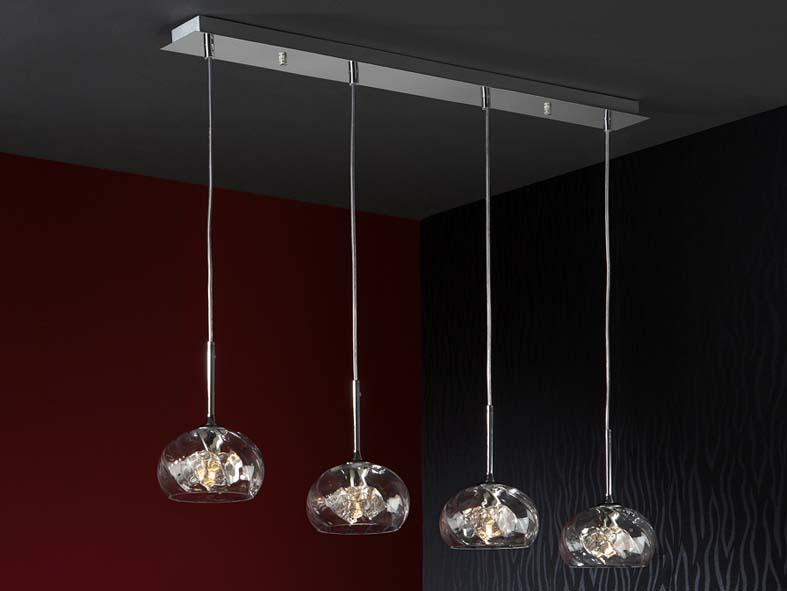 Foto l mparas modernas modelo boreal de 4 luces foto 94652 for Lamparas de bombillas colgantes