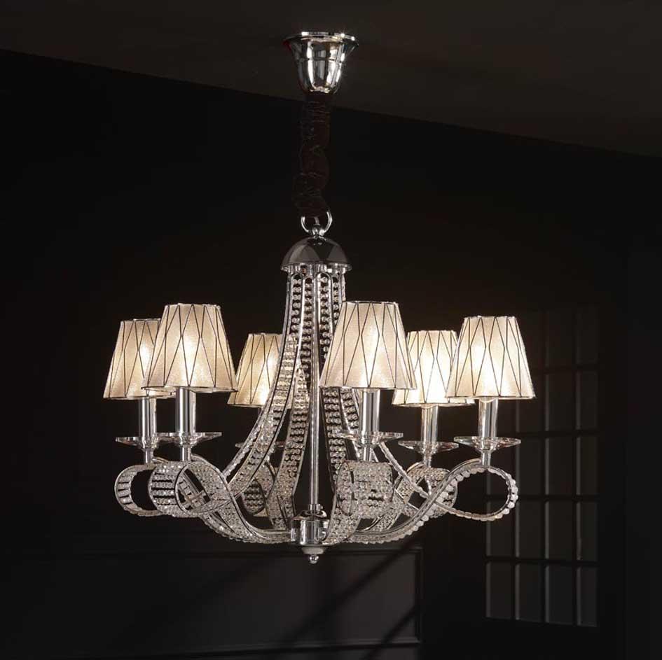 Foto l mparas modernas modelo scala de 6 luces foto 94663 for Modelos de lamparas
