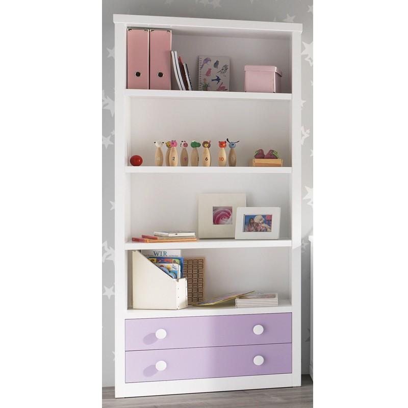 Foto librero con conisa recta 2 puertas en madera de haya for Mueble libreria infantil