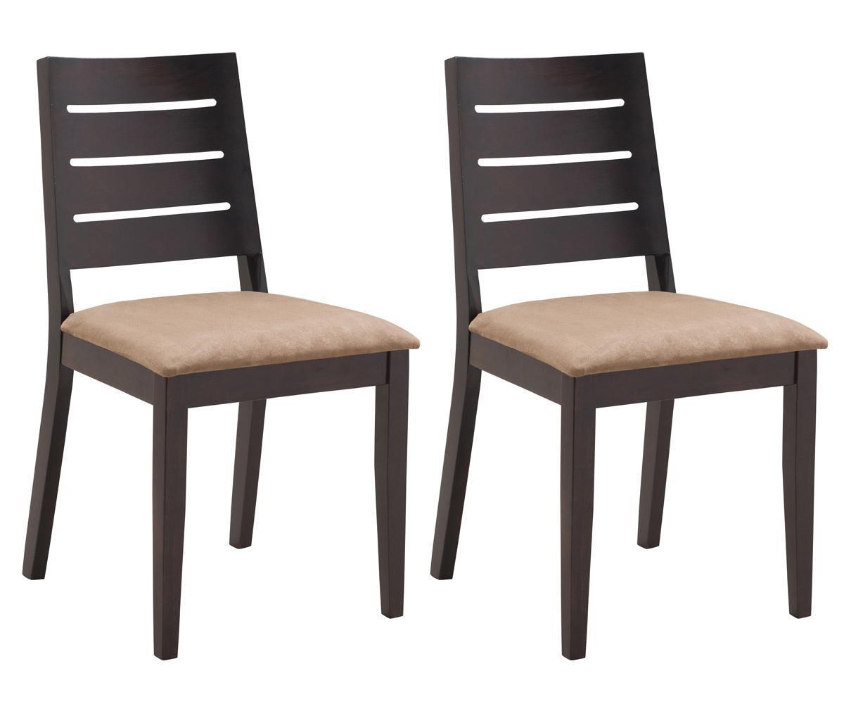 Foto lote de dos sillas color wengu de roble joy foto 453095 - Sillas de roble ...