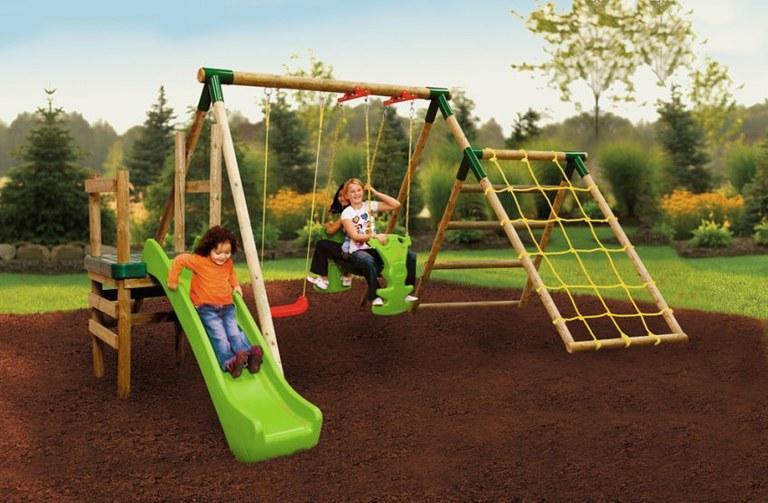 Foto gran parque infantil multiactividades lt playground for Gimnasio 8 en 1 tunel y doble tobogan