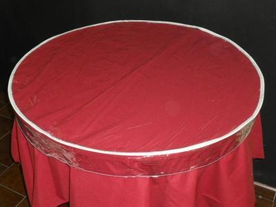 Hule transparente para mesa