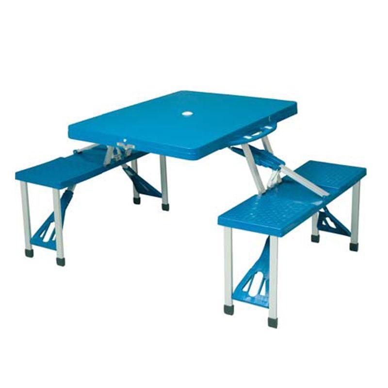 Foto mesa de camping maleta 4 sillas de camping foto 450892 for Mesa de camping plegable con sillas