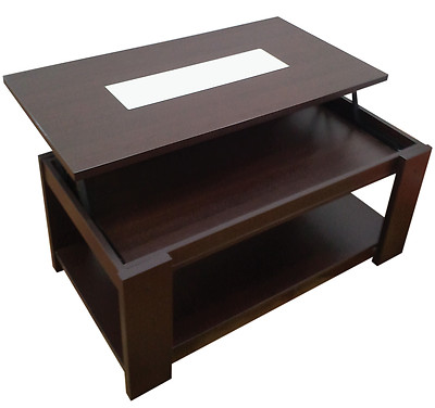 Foto mesa de centro elevable color wengue muebles mato md for Muebles mato ebay
