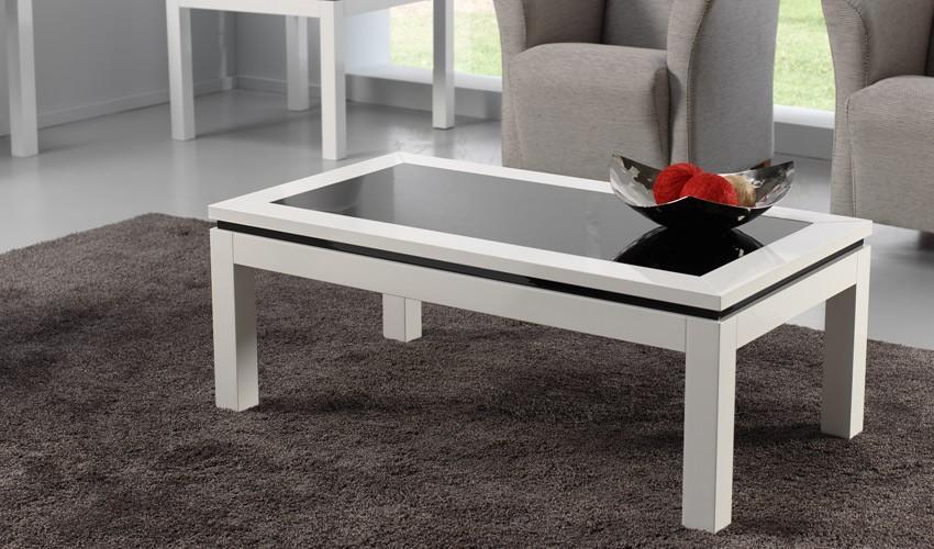 Foto mesa de centro elevable y extensible con taburetes foto 144404 - Mesas de centro de cristal modernas ...