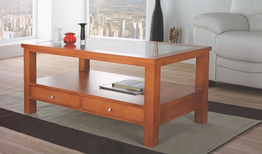 Foto mesa de centro elevable en madera de fresno foto 399901 - Mesas de centro de cristal y madera ...