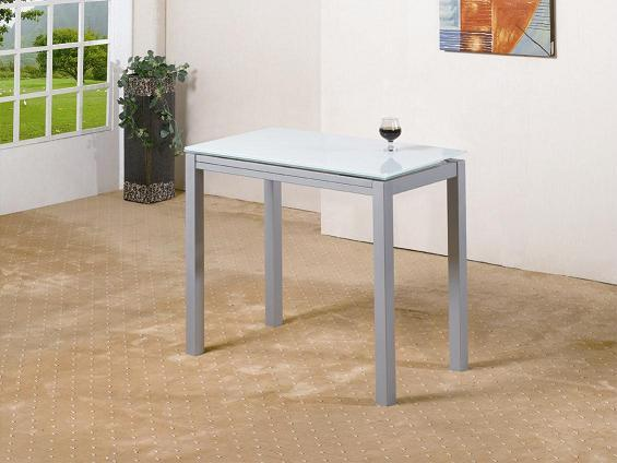 Foto mesa de cocina extensible negro mod calcuta foto for Mesas de cocina extensibles