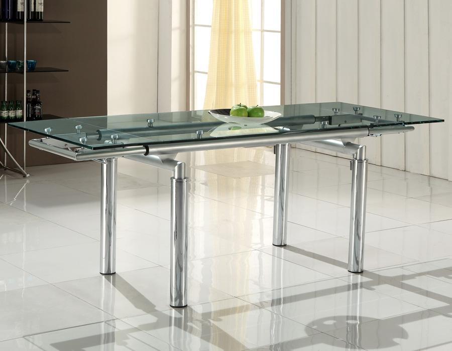 Foto mesa de comedor en cristal mod gaia foto 881917 - Cristal de mesa ...