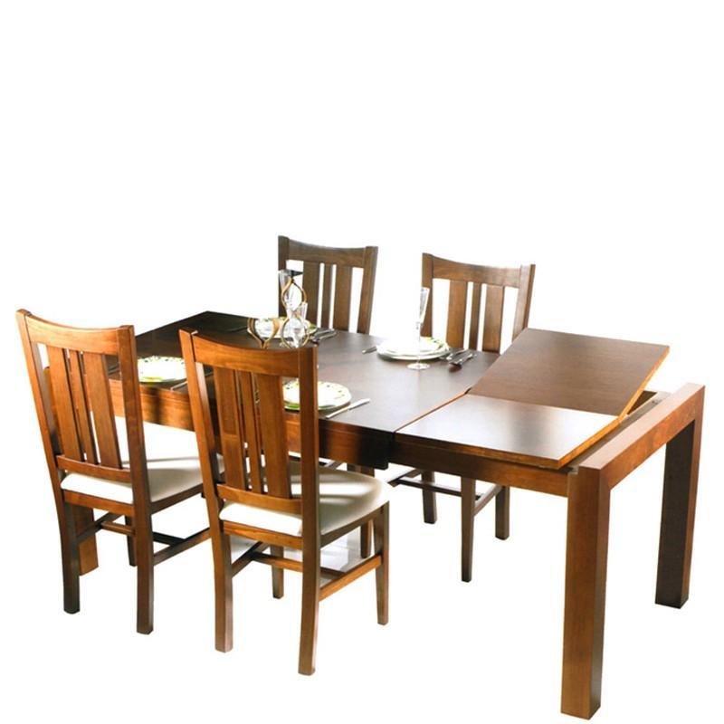 Mesa de comedor extensible de madera de pino car - Madera de pino ...