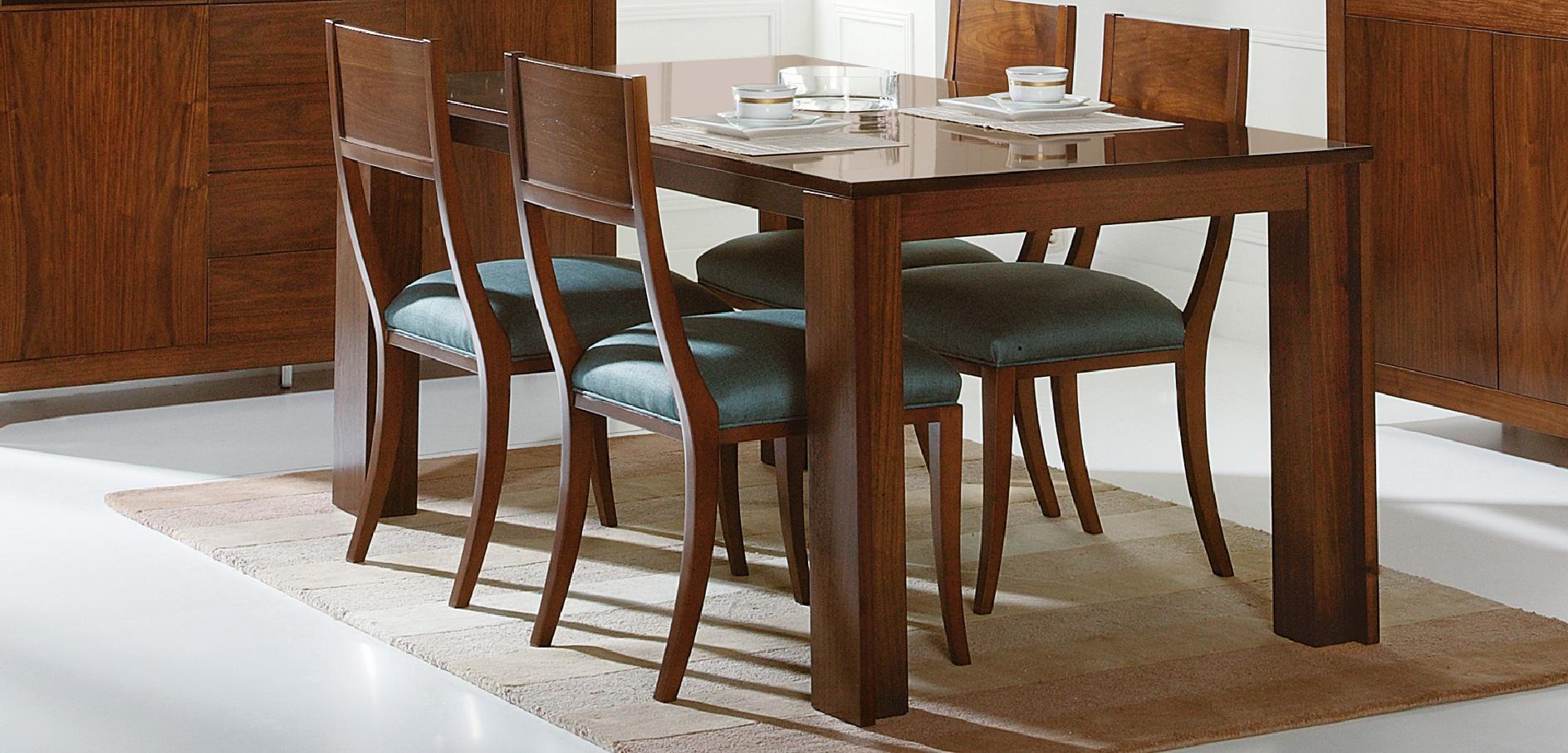 Mesa de comedor moderna ados de hurtado muebles car for Mesas modernas para comedor