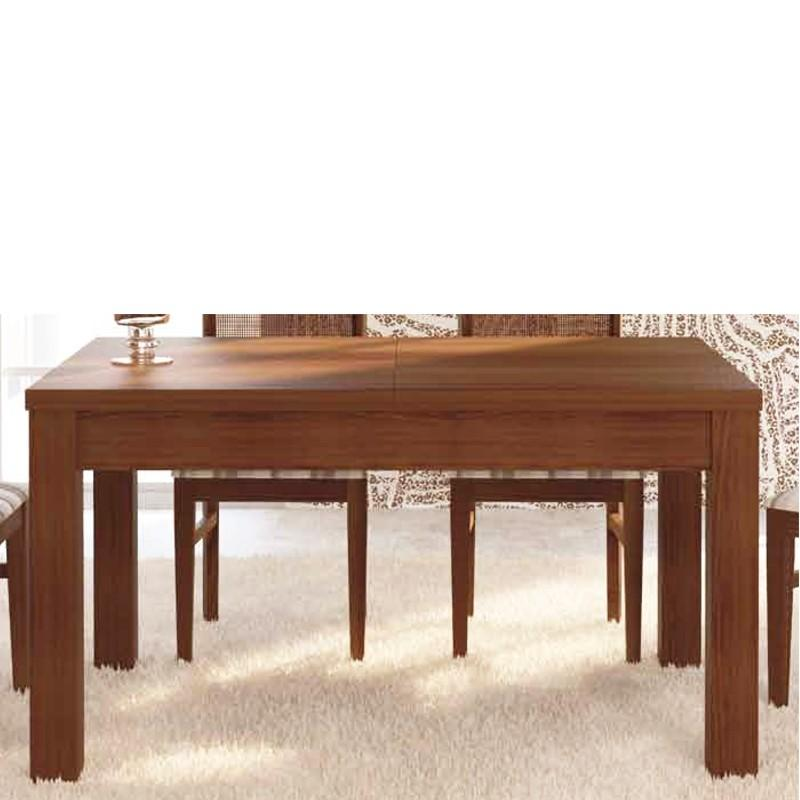 Foto mesa de comedor extensible realizada en madera de - Mesas comedor extensibles madera ...