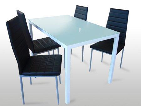 Foto mesa de estudio blanca con cajonera foto 75492 for Comedor cuatro sillas