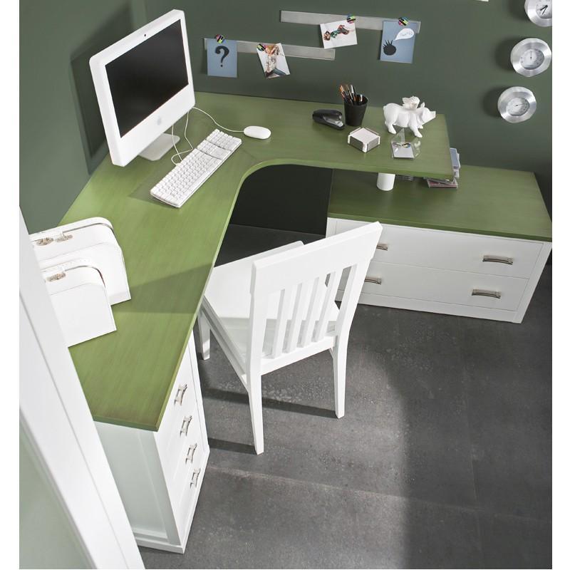 Foto librer a con cornisa recta con 2 cajones y 1 puerta for Mesas para esquinas