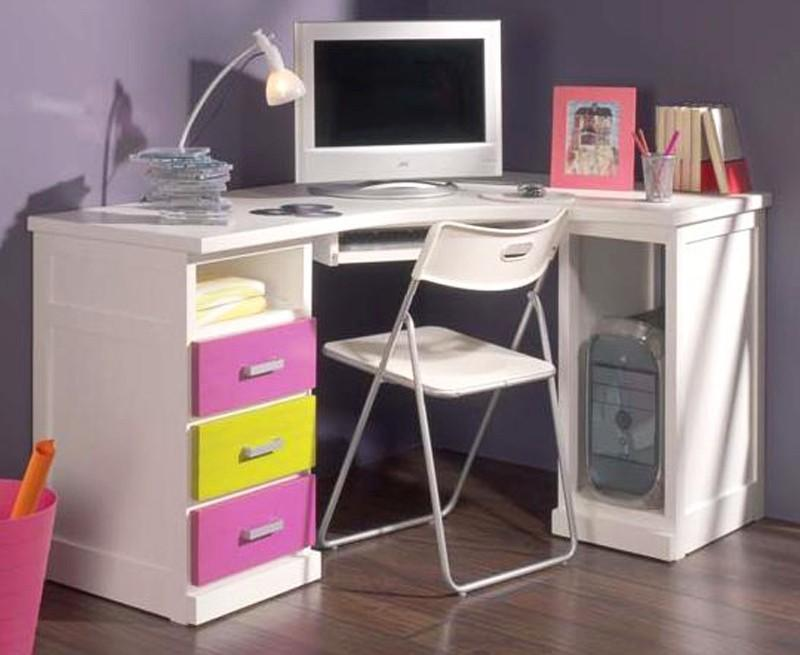 Foto mesa de escritorio en esquina con 2 m dulos de - Mesa escritorio esquina ...