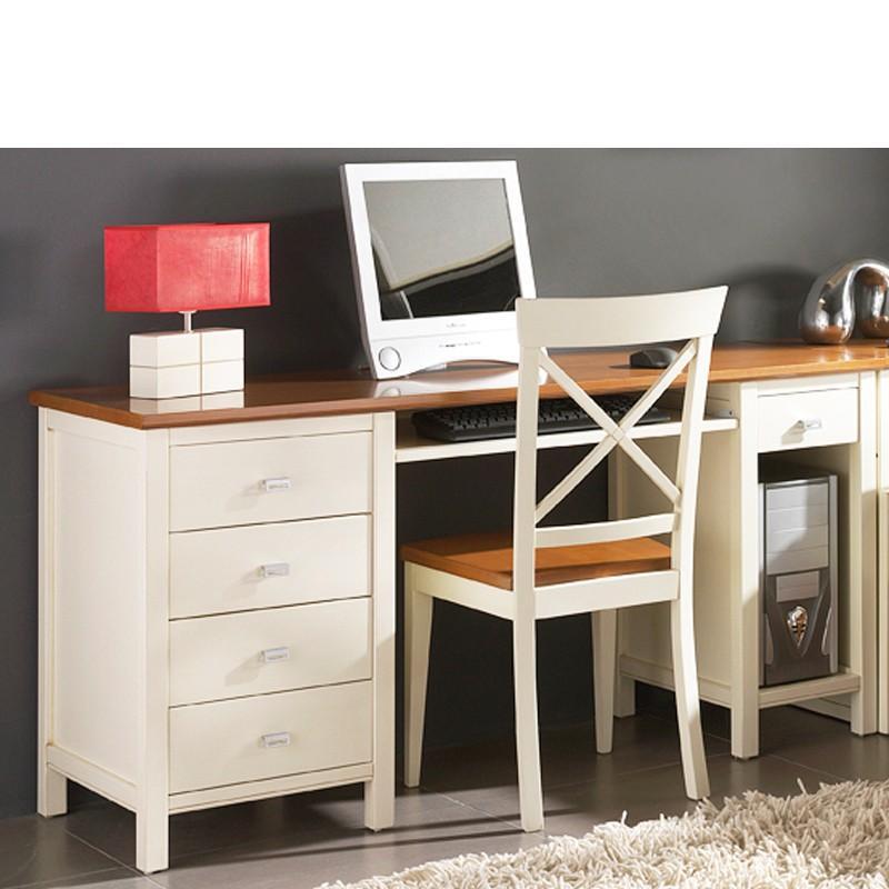 Foto c moda con 2 cajones grandes 2 peque os en madera - Mesas de escritorio de madera ...