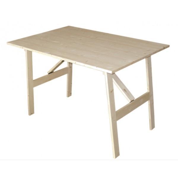 Foto mesa plegable sencilla de madera de abeto foto 205875 - Mesa plegable madera ...