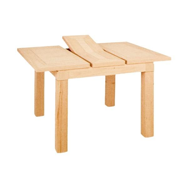 Foto mesa tokio extensible tapa 4 cm madera 90x90 cm for Mesa 90x90 extensible