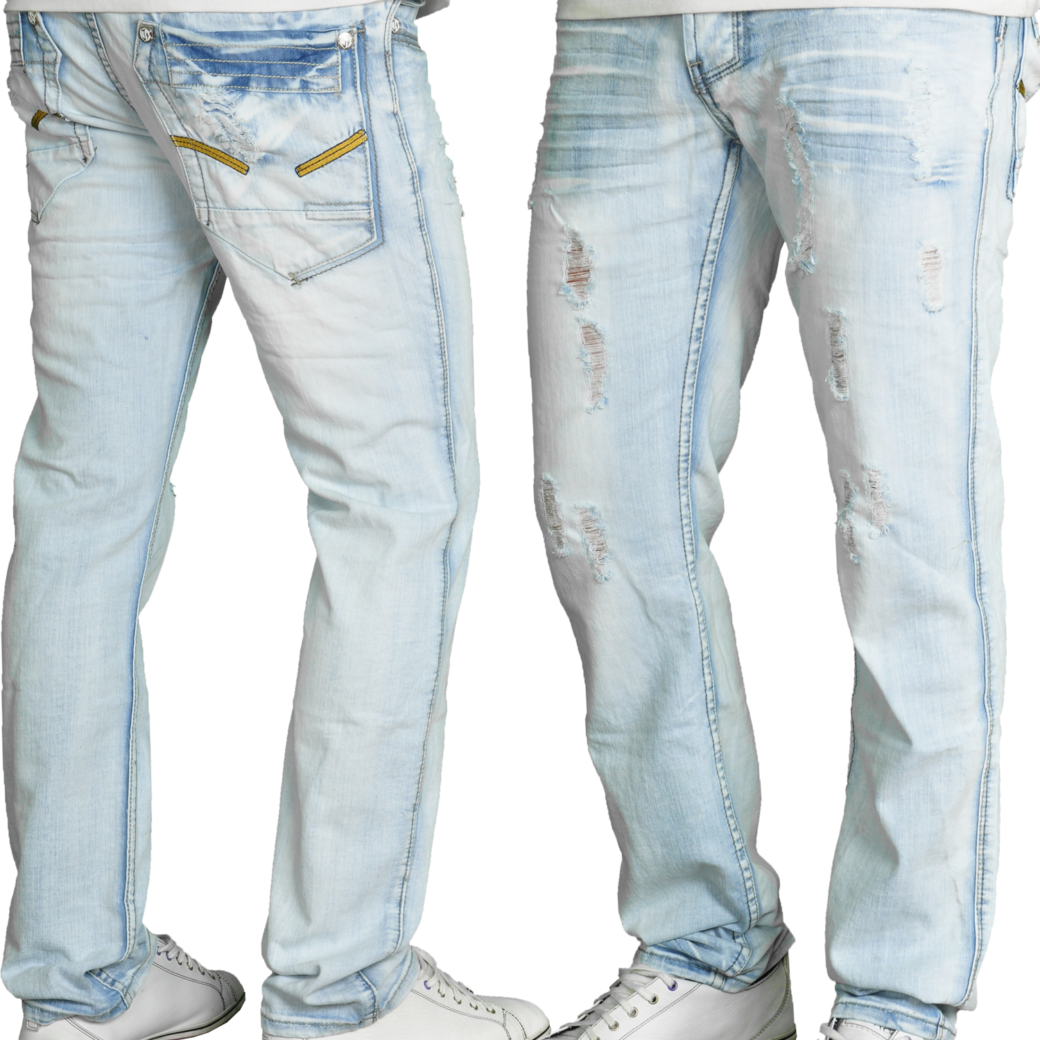 Foto Milano Style Jeansnet Loose Fit Jeans Azul Claro