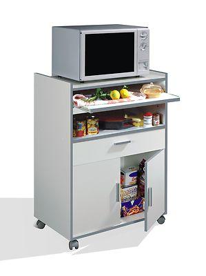 Foto mueble armario de cocina auxiliar para microondas - Armarios auxiliares cocina ...