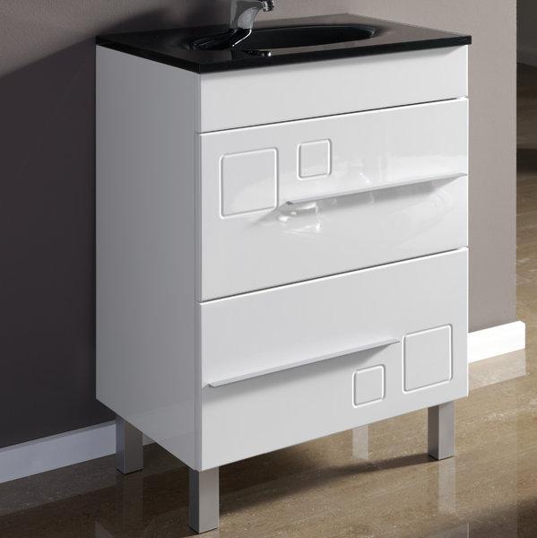 Foto mueble de ba o 60 cm 2 cajones blanco kimito foto 101641 - Mueble bano 60 ...