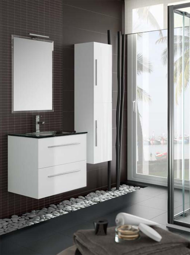 Foto mueble de ba o creta 600 de salgar de color blanco - Mueble bano blanco ...