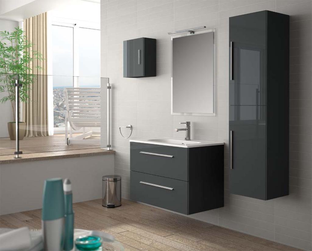 Foto Mueble de baño creta 800 de salgar de color gris foto ...