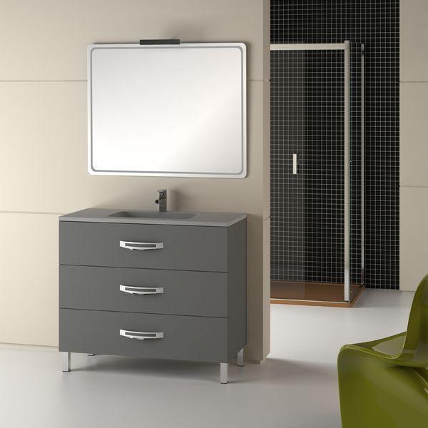 Mueble Baño Roble Gris:Foto Mueble de baño Garona 100 gris de Torvisco foto 886080