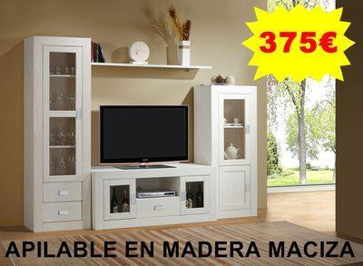 Foto mueble de salon comedor tv sala oficina madera maciza - Muebles de madera maciza para salon ...