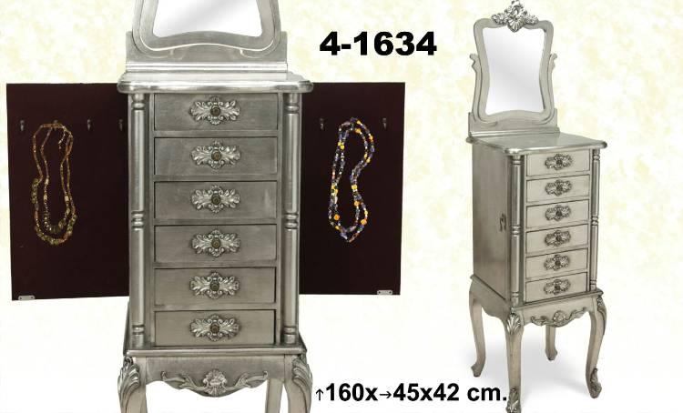Foto mueble joyero con espejo plata olives foto 733554 - Mueble espejo joyero ...
