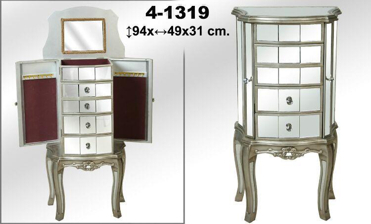 Foto mueble joyero espejos plata foto 917820 - Mueble espejo joyero ...