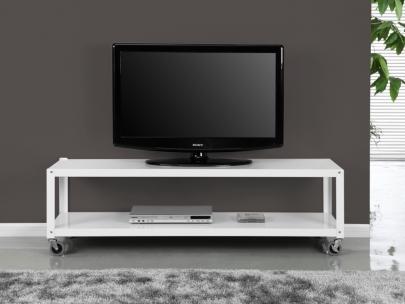 Foto mesa de comedor guerande 6 comensales pino blanco for Muebles para tv con ruedas