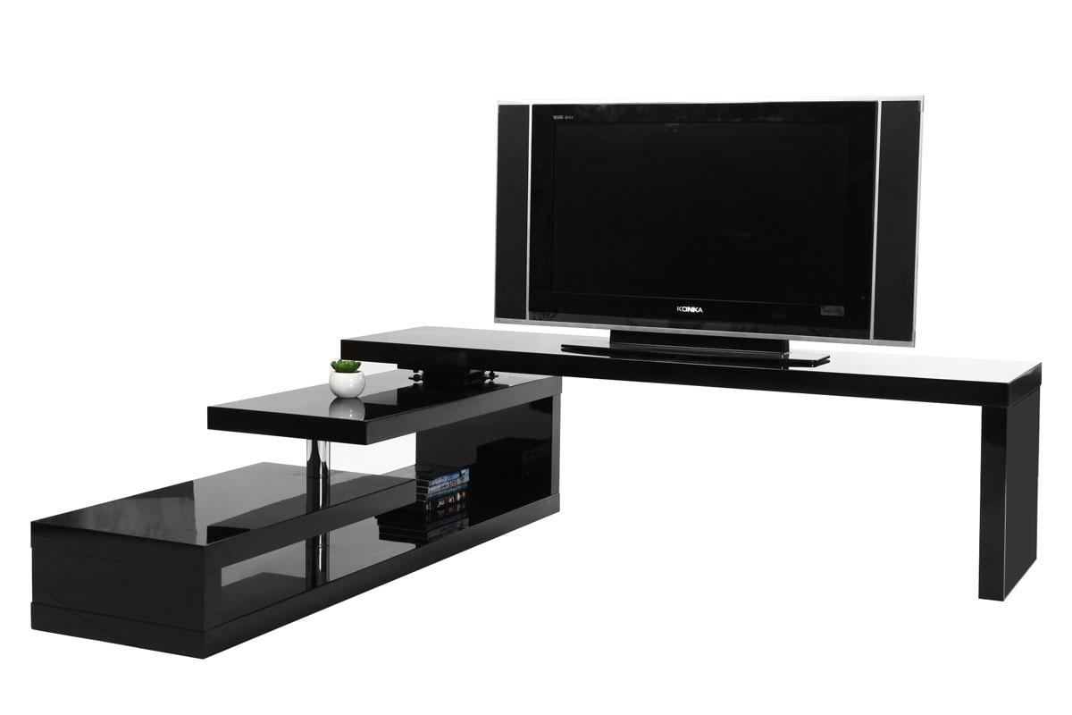 Mueble Giratorio Tv Good Foto Tumbona De Diseo Negra Taylor Foto  # Mueble Tv Industrial Negro