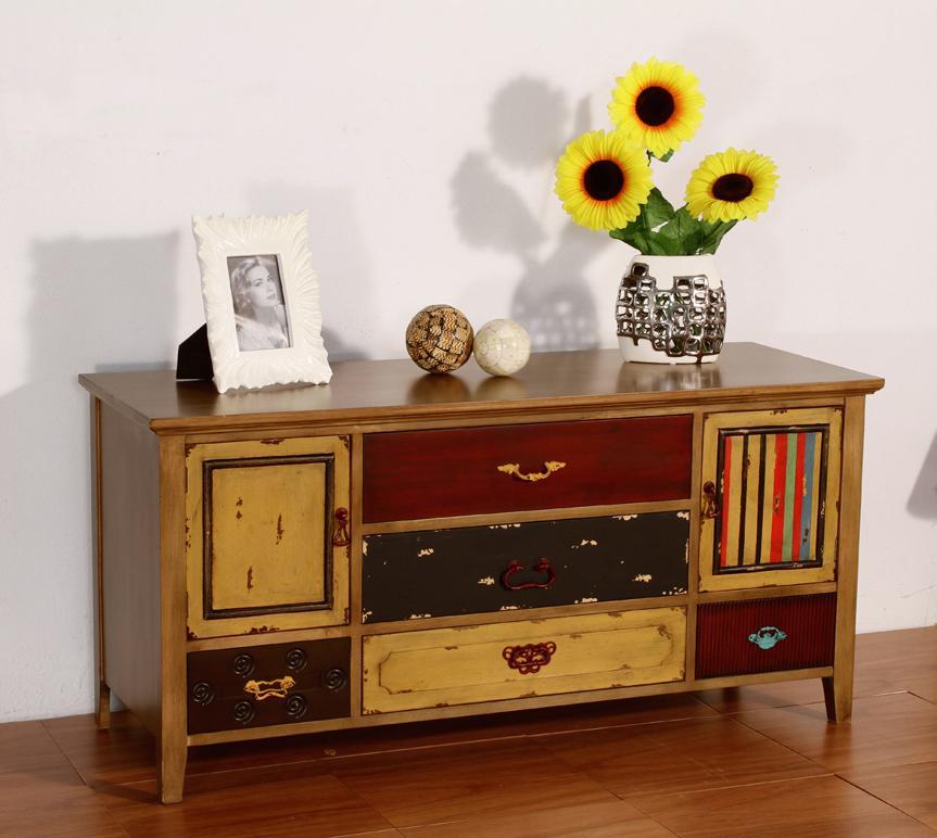 Foto mesa de centro clasica aspas foto 399943 for Mueble tv vintage