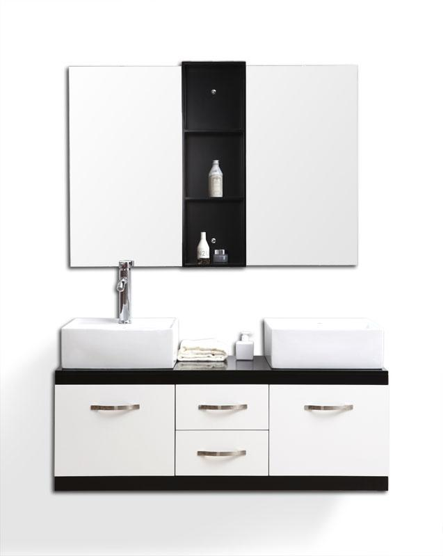 Lavabos Dobles Para Baño:Foto Muebles de baño : doble lavabo, armario y espejos DOHAN foto