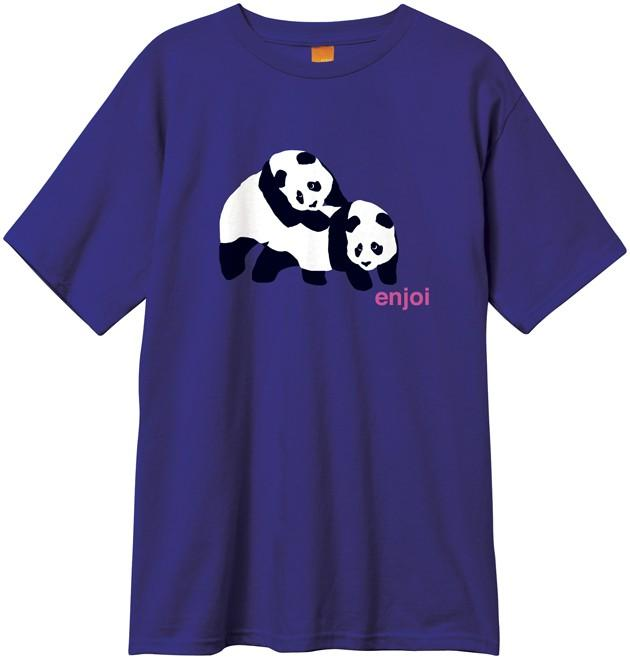 Foto New Era Piggyback Panda Tee - Purple