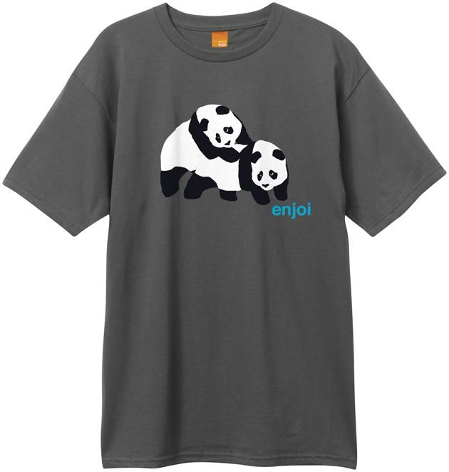 Foto New Era Piggyback Pandas Tee - Charcoal