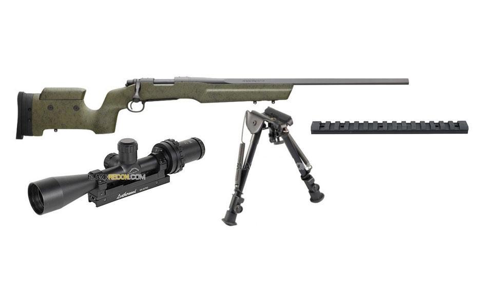 Foto Pack Sniper 1: Rifle Remington 700 VTR-5 .308 + monturas + visor +...  foto 40894