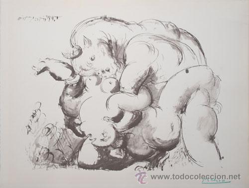 Picasso, Pablo Hombre descubriendo a una mujer